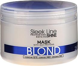 Духи, Парфюмерия, косметика Восстанавливающая маска с шелком для светлых волос - Stapiz Sleek Line Repair & Shine Blond Mask