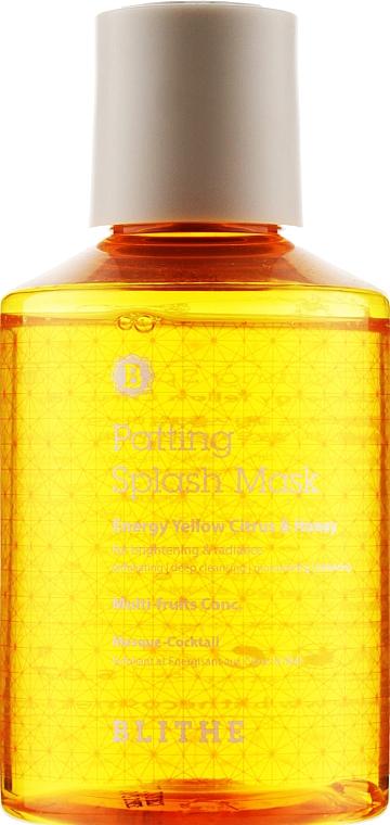 "Сплэш-маска для сияния ""Энергия. Цитрус и мед"" - Blithe Energy Yellow Citrus and Honey Patting Splash Mask"