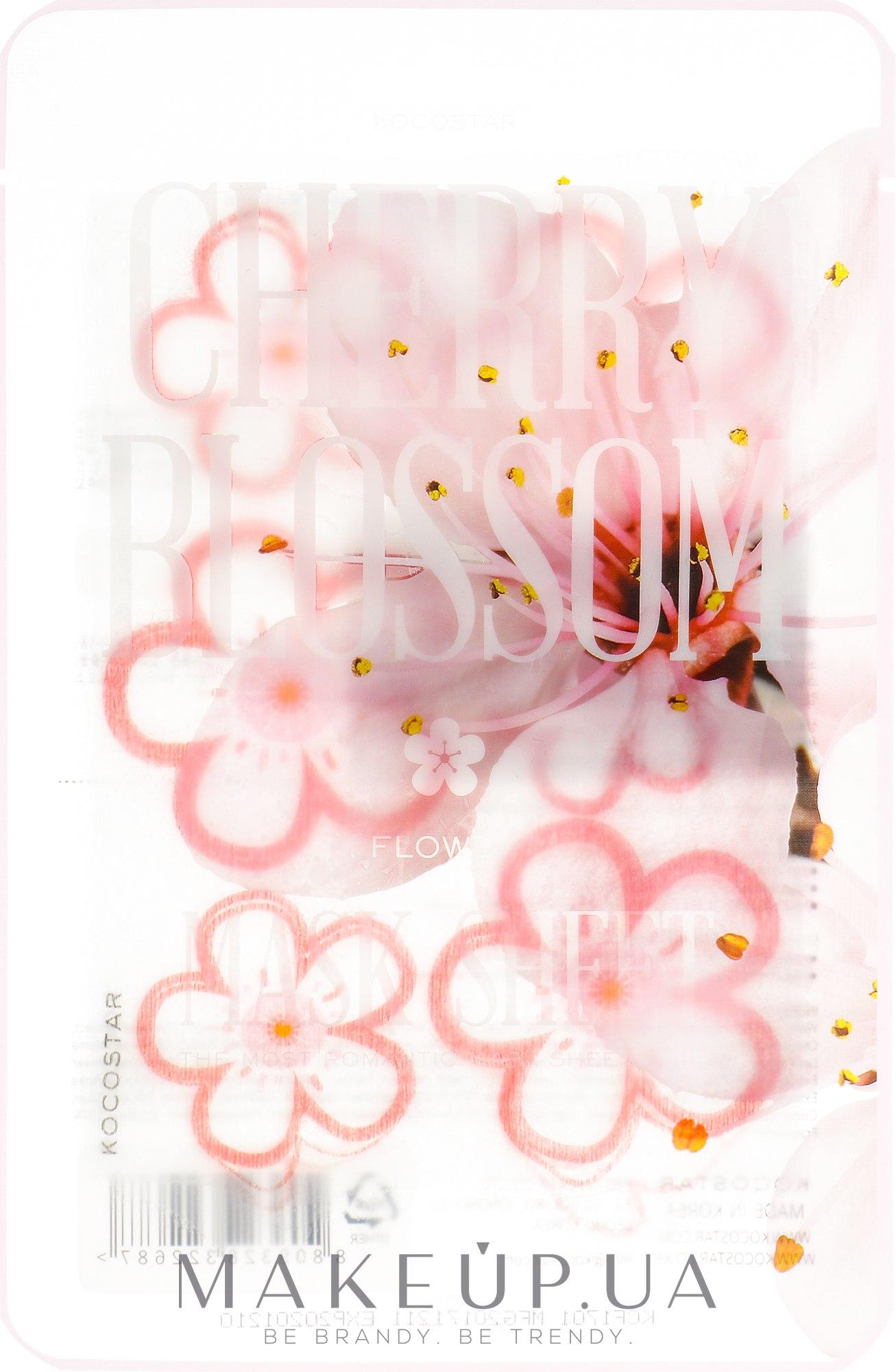 "Маска-слайс для лица ""Цветы сакуры"" - Kocostar Cherry Blossom Slice Mask Sheet — фото 20ml"