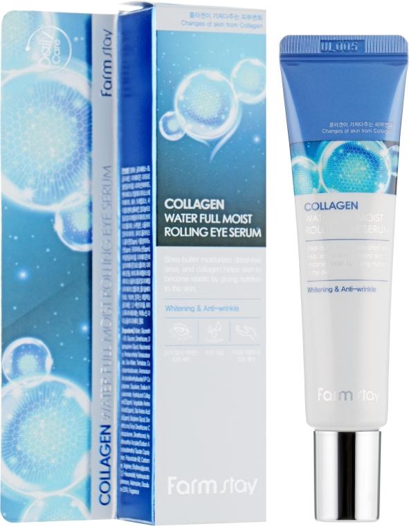 Сыворотка-роллер с коллагеном для кожи вокруг глаз - FarmStay Collagen Water Full Moist Rolling Eye Serum