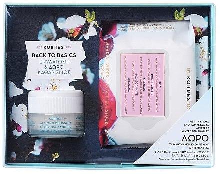 Набор для жирной и комбинированой кожи - Korres Almond Blossom (cr/40ml + wipes/25pc)