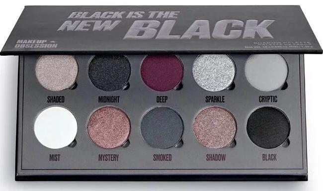 Палетка теней для век, 10 цветов - Makeup Obsession Black Is The New Black