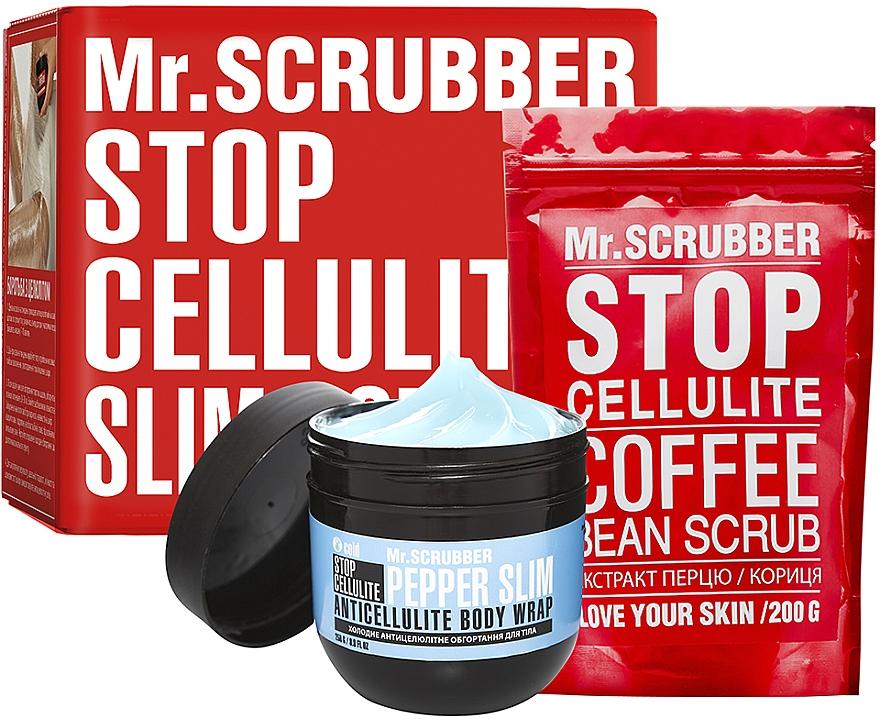 Набор - Mr.Scrubber Stop Cellulite Cold Pepper Slim (cr/cold/250g + scrub/200g)