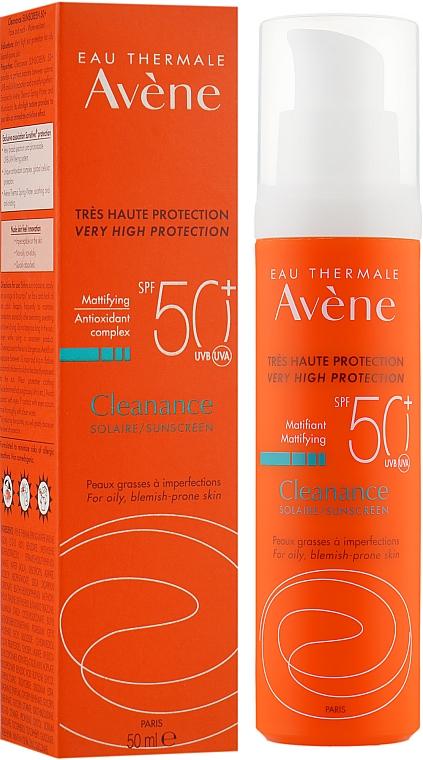 Солнцезащитный крем для жирной кожи - Avene Solaires Cleanance Sun Care SPF 50+