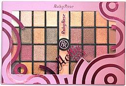Духи, Парфюмерия, косметика Палетка теней для век, 32 оттенка - Ruby Rose Eyeshadow Palette Hottie Eyes