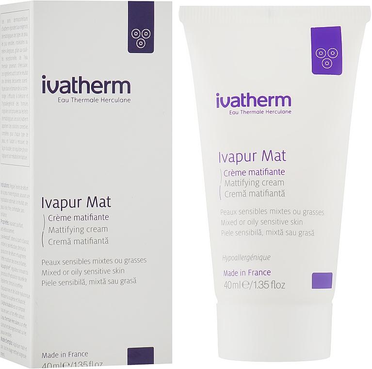 Матирующий крем для жирной и комбинированной кожи лица - Ivatherm Ivapur Mat Matifying Cream