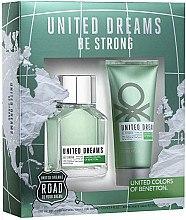 Духи, Парфюмерия, косметика Benetton United Dreams Be Strong - Набор (edt/100ml + ash/balm/100ml)