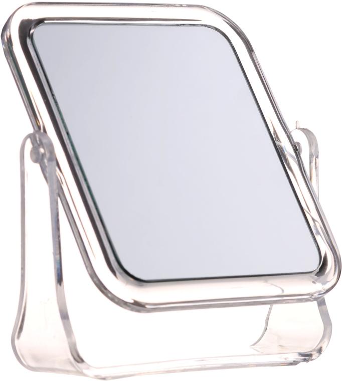 Зеркальце косметическое квадратное, 5282, белое - Top Choice