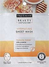 Духи, Парфюмерия, косметика Тканевая маска для лица - Freeman Beauty Infusion Hydrating Sheet Mask Manuka Honey + Collagen