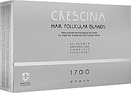 Духи, Парфюмерия, косметика Комплекс для лечения выпадения волос для женщин - Crescina Hair Follicular IslandRe-Growth+Anti-Hair Loss 1700 Woman