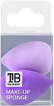 Духи, Парфюмерия, косметика Мини-спонж для макияжа, 2 шт - Tools For Beauty Mini Concealer Makeup Sponge Purple