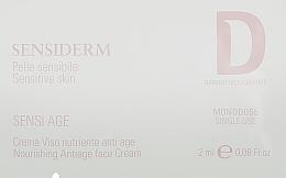 Духи, Парфюмерия, косметика Антивозрастной крем для чувствительной кожи - Dermophisiologique Sensiderm Sensi Age Nourishing Face Cream (пробник)