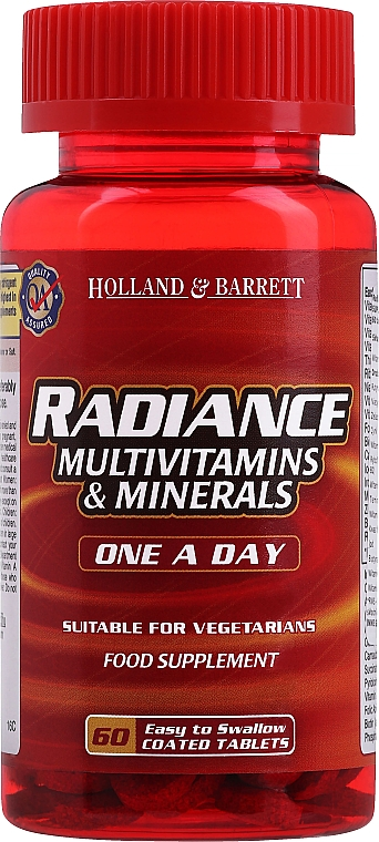 "Пищевая добавка ""Мультивитамины и минералы"" - Holland & Barrett Radiance Multi Vitamins & Minerals One a Day"