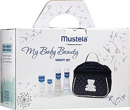 Парфумерія, косметика Набір - Mustela My Baby Beauty Vanity Set (shm/200ml + b/bubble/200ml + cr/40ml + bag)