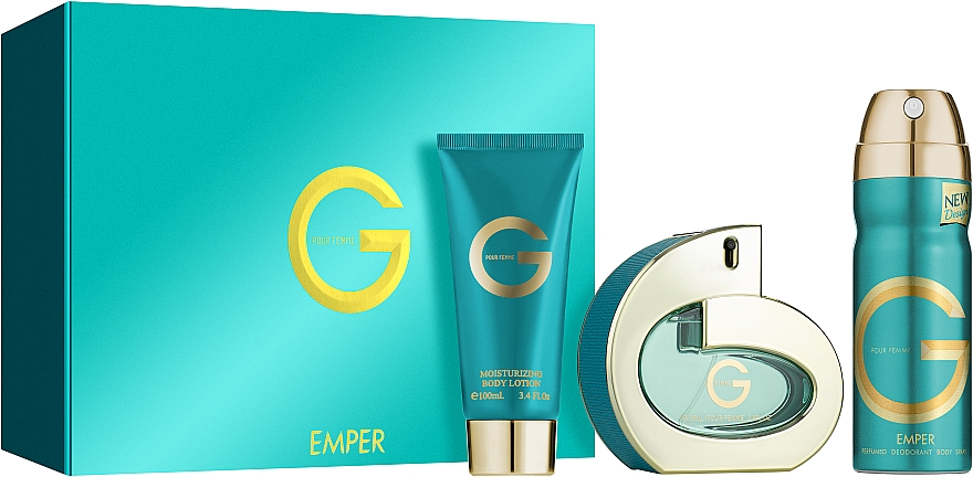 Emper G Pour Femme - Набор (edp/85ml + deo/200ml + b/lot/100ml)