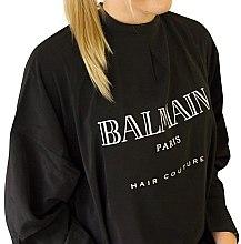 Духи, Парфюмерия, косметика Пеньюар тканевый, чёрный с золотыми пуговицами - Balmain Paris Hair Couture Luxurious Cutting Cape