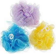 """Духи, Парфюмерия, косметика Губка банная сетчатая """"Bant"""", фиолетовая + желтая + синяя - Акватория"""