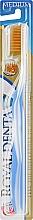 Духи, Парфюмерия, косметика Зубная щетка средней мягкости с наночастицами золота, синяя - Royal Denta Gold Medium Toothbrush