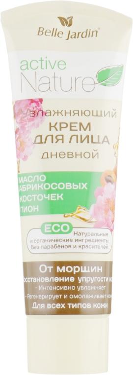 Дневной увлажняющий крем для лица от морщин с маслом абрикосовых косточек и пионом - Belle Jardin Active Nature ECO