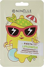 "Духи, Парфюмерия, косметика Тонизирующая и придающая сияние тканевая маска для лица ""Лимон"" - Ninelle Fiesta"