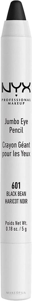 Карандаш-тени для глаз - NYX Professional Makeup Jumbo Eye Pencil — фото 601 - Black Bean