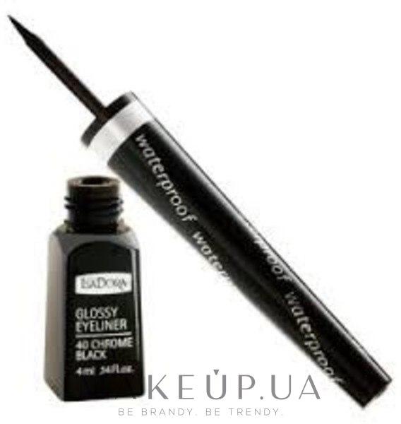 Підводка для очей - IsaDora Glossy Eyeliner — фото 40 - Chrome Black