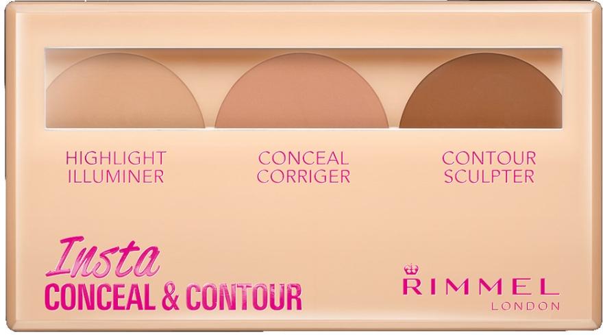 Набор для контуринга лица - Rimmel Insta Conceal & Contour Palette