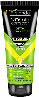 Антицеллюлитная сыворотка - Bielenda Slim Cellu Corrector Concentrated Serum Booster Carbon+Matcha Tea