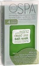 Духи, Парфюмерия, косметика Набор - BCL SPA Manicure & Pedicure Lemongrass + Green Tea (scr/28gr + salt/14gr + mask/15ml + cream/15ml)