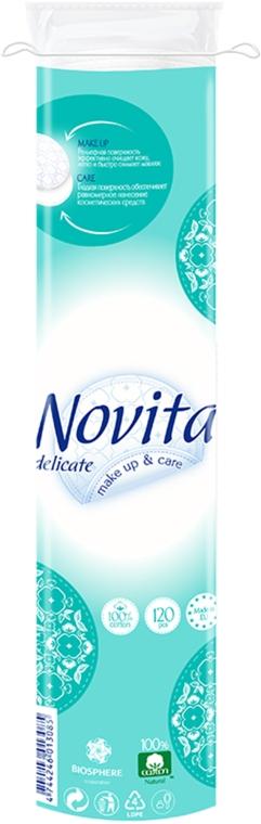 Диски ватные косметические, 120шт - Novita Delicate