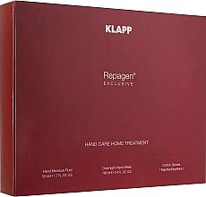"Духи, Парфюмерия, косметика Набор ""Экстра"" для кожи рук - Klapp Repagen Exclusive Hand Care Home Treatment (fluid/50ml + hand/mask/100ml + gloves/1pair)"