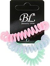 Духи, Парфюмерия, косметика Набор резинок для волос, 405004, васильковая+розовая+ментоловая - Beauty Line