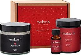 """Духи, Парфюмерия, косметика Набор """"Клюква"""" - Mokosh Cosmetics Cranberry (balm/180ml + scr/300g + nail elixir/10ml)"""