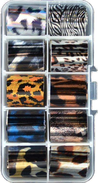 Фольга переводная трансферная, набор А, 2.5х55 см - Canni