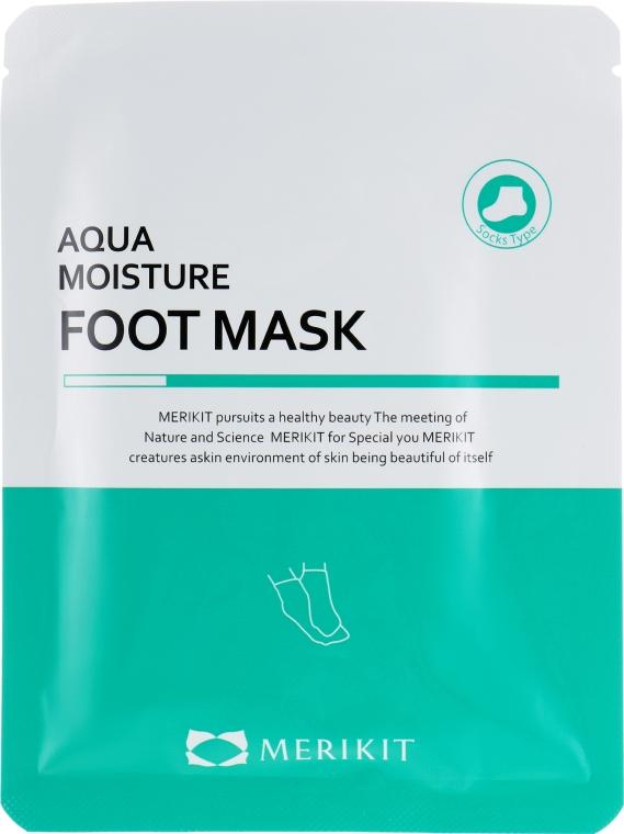 Увлажняющая маска для ног - Merikit Aqua Moisture Foot Mask