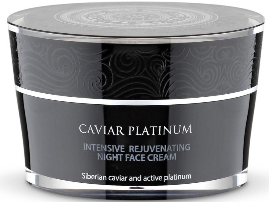 Интенсивный восстанавливающий ночной крем для лица - Natura Siberica Caviar Platinum Intensive Rejuvenating Night Face Cream