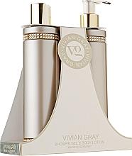 Духи, Парфюмерия, косметика Набор - Vivian Gray Brown Crystals Set (sh/gel/250 ml + b/lot/250 ml)
