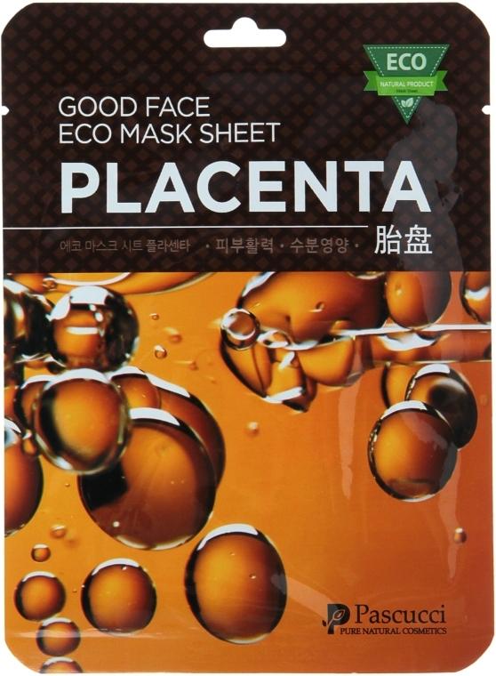 Маска для лица с плацентой - Amicell Pascucci Good Face Eco Mask Sheet Placenta