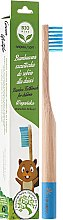 Духи, Парфюмерия, косметика Зубная щетка бамбуковая для детей, мягкая, голубая - Biomika Natural Bamboo Toothbrush