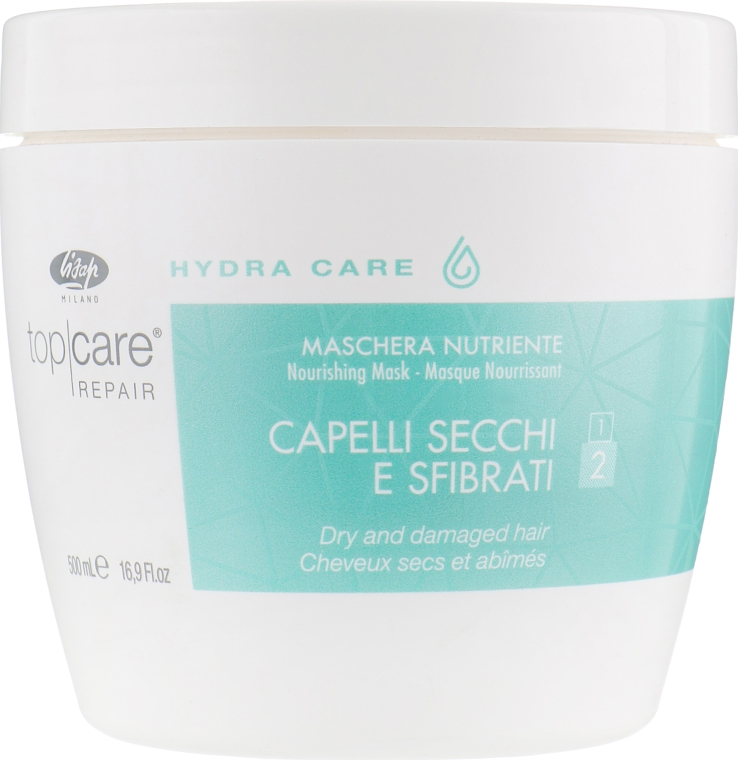 Интенсивная питающая маска - Lisap Top Care Repair Hydra Care Nourishing Mask — фото N3