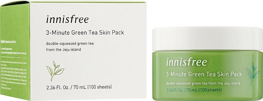 Интенсивная трех минутная маска - Innisfree Green Tea 3-Minute Skin Pack