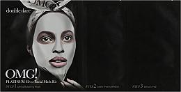 """Духи, Парфюмерия, косметика Комплекс масок трехкомпонентный """"Активный лифтинг и восстановление"""" - Double Dare OMG! Platinum Silver Facial Mask Kit"""