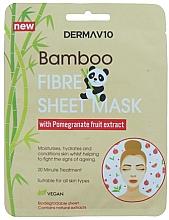 Духи, Парфюмерия, косметика Тканевая маска для лица из бамбукового волокна с гранатом - Derma V10