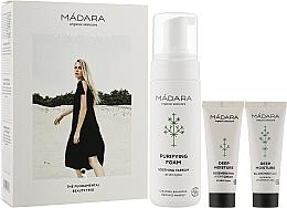 Духи, Парфюмерия, косметика Набор - Madara Cosmetics Become Organic Starter Set (foam/150ml + fluid/25ml + cr/25ml)