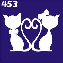 Духи, Парфюмерия, косметика Трафарет для боди-арта, 6х6 см, 453 - Biofarma