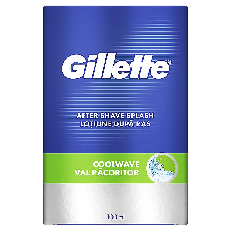 "Лосьон после бритья ""Свежий"" - Gillette Series Cool Wave After Shave Splash For Men"