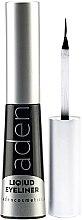 Духи, Парфюмерия, косметика Подводка для глаз водостойкая - Aden Cosmetics Liquid Eyeliner