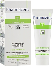Духи, Парфюмерия, косметика Увлажняющий крем для кожи лица после анти-акне терапии - Pharmaceris T Sebo-Moistatic Cream SPF30