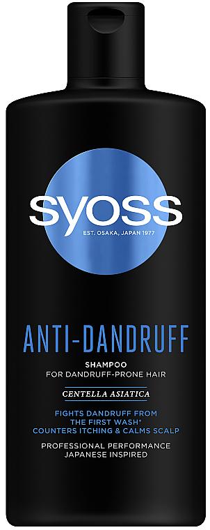 Шампунь для волос склонных к перхоти - Syoss Anti-Dandruff Centella Asiatica Shampoo
