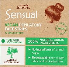 Духи, Парфюмерия, косметика Пластырь с растительным воском для депиляции лица - Joanna Sensual Depilatory Vegan Wax Strips